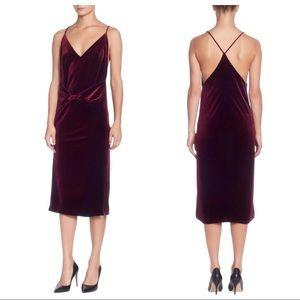 Catherine Malandrino Velvet Racerback Slip Dress